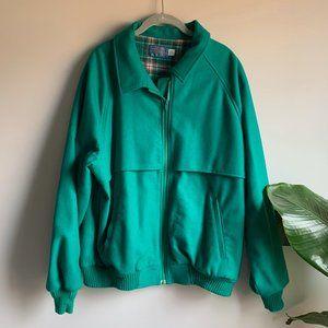 Vintage Pendleton Teal Green Wool Bomber Jacket L